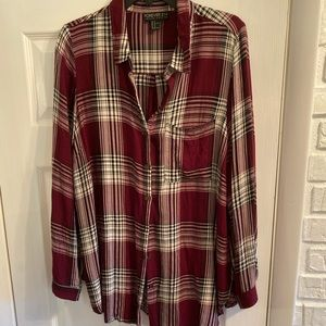 Forever 21 Wine Flannel